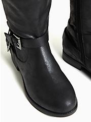 Black Oiled Faux Suede Over-The-Knee Boot (WW), BLACK, alternate