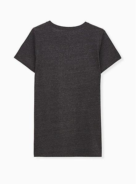 Lovesick Slim Fit Crew Tee - Triblend Jersey Charcoal Grey , CHARCOAL  BLACK, alternate