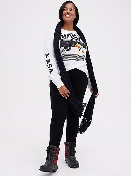Platinum Legging - Cable Knit Black , BLACK, alternate