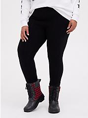 Plus Size Platinum Legging - Cable Knit Black , BLACK, hi-res