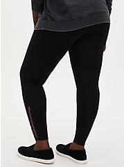 Premium Legging - Loop Cording Black, BLACK, alternate