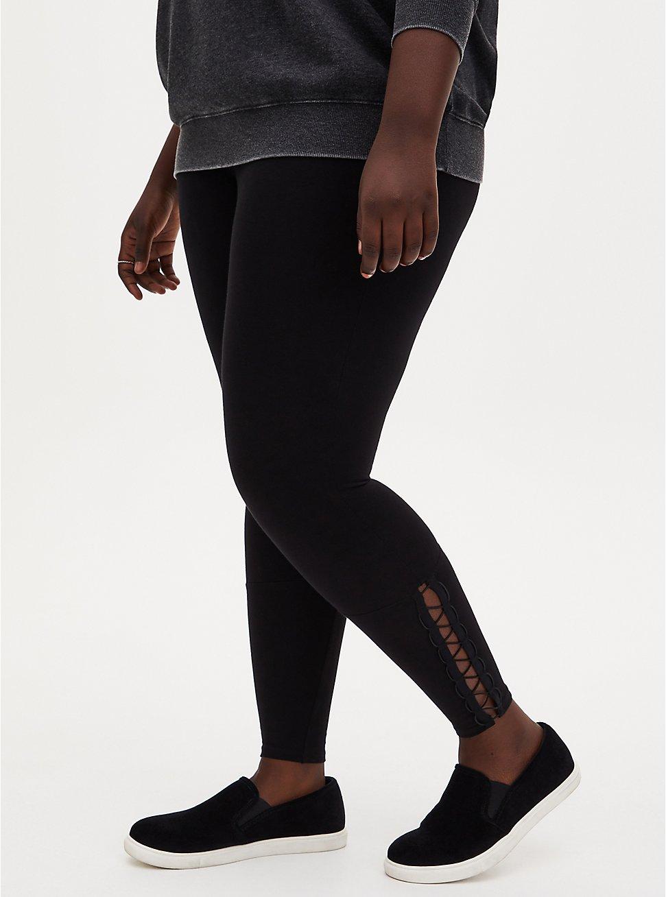 Premium Legging - Loop Cording Black, BLACK, hi-res