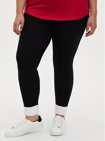 Premium Legging - Sherpa Hem Black, BLACK, alternate