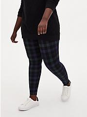 Plus Size Premium Legging - Plaid Blue & Green, MULTI, hi-res