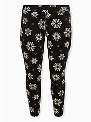 Plus Size Premium  Legging - Skull Snowflake Black, MULTI, hi-res