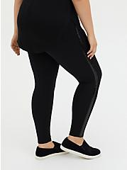 Platinum Tuxedo Legging - Ponte Sequin Stripe Black, BLACK, alternate