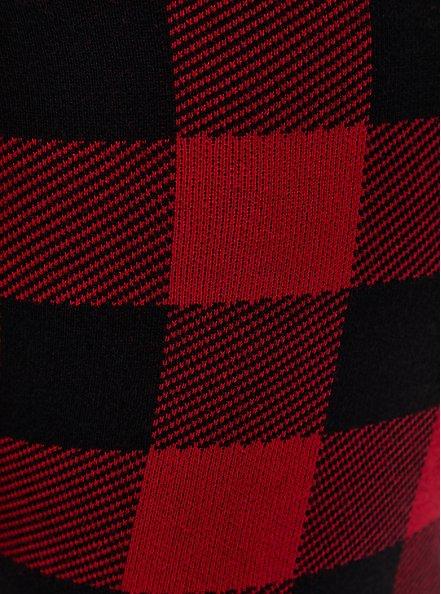 Platinum Legging - Sweater Knit Plaid Red, MULTI, alternate