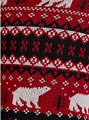 Polar Bear Intarsia Red Platinum Legging, MULTI, alternate