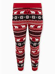 Polar Bear Intarsia Red Platinum Legging, MULTI, hi-res