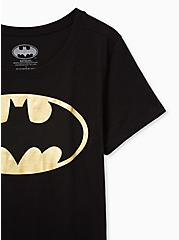 Batman Slim Fit Graphic Crew Tee - Black Foil, DEEP BLACK, alternate