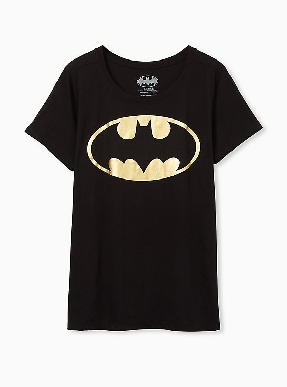 Batman Slim Fit Graphic Crew Tee - Black Foil, , hi-res