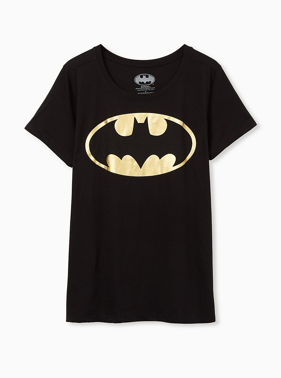 Batman Slim Fit Graphic Crew Tee - Black Foil, DEEP BLACK, hi-res