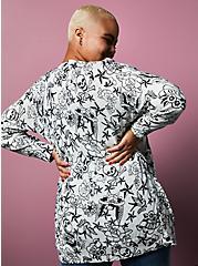 Betsey Johnson Printed Boyfriend Cardigan, OTHER PRINTS, alternate