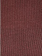 Walnut Turtleneck Pullover Sweater, ROSE BROWN, alternate