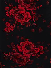 Black Floral Wrap Maxi Dress with Slit, FLORALS-RED, alternate