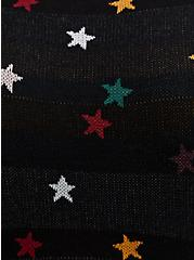 Black & Multi Star Knit-to-Woven Skater Dress, STARS - BLACK, alternate