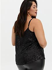 Sophie - Black Sequined Swing Cami, DEEP BLACK, alternate