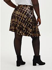 Multi Plaid Sequin Pleated Mini Skater Skirt, PLAID, alternate
