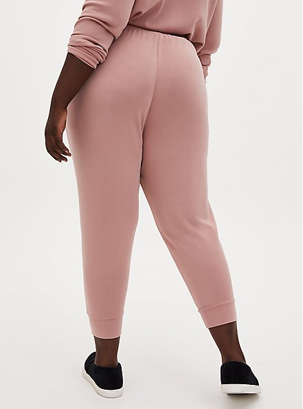 Plus Size Relaxed Fit Crop Active Jogger - Cupro Dusty Pink, DUSTY QUARTZ, alternate