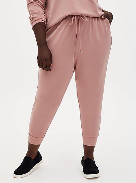 Plus Size Relaxed Fit Crop Active Jogger - Cupro Dusty Pink, DUSTY QUARTZ, hi-res