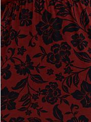 Super Soft Red & Black Floral Sleep Chemise, , alternate