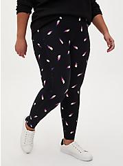 Black Lightning Bolt Wicking Active Legging with Pockets, LIGHTNING BOLT, hi-res
