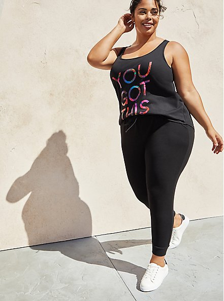Relaxed Fit Crop Active Jogger - Cupro Black, BLACK, alternate