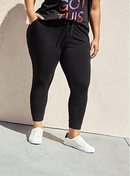 Relaxed Fit Crop Active Jogger - Cupro Black, BLACK, hi-res