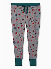 Grey Presents Drawstring Henley Sleep Pants, MULTI, hi-res