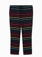 Super Soft Black & Rainbow Stripe Drawstring Sleep Pant, MULTI, hi-res
