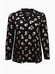 Super Soft Black & Metallic Skull Sleep Shirt, MULTI, hi-res
