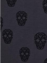 Super Soft Grey & Black Skull Sleep Cami Tunic, MULTI, alternate