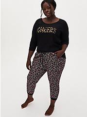 Black Cheers Sequins Sleep Sweatshirt, DEEP BLACK, alternate