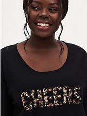 Black Cheers Sequins Sleep Sweatshirt, DEEP BLACK, hi-res