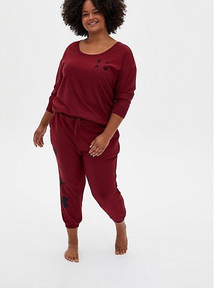 Red & Black Graphic Sleep Sweatshirt, RED, alternate