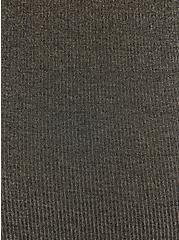 Black & Gold Lurex Long Sleeve Sleep Tee, DEEP BLACK, alternate