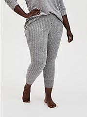 Super Soft Plush Rib Light Grey Sleep Jogger, GREY, alternate