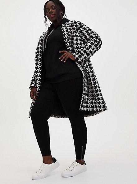 Bombshell Skinny Jean -Super Soft Black Ankle Zip, BLACK, alternate