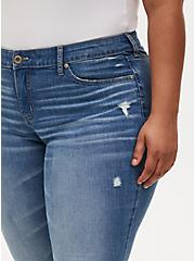 Mid Rise Skinny Jean - Vintage Stretch Medium Wash, KARMA, alternate