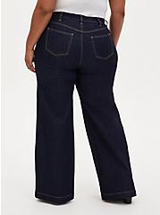 High Rise Wide Leg Jean - Vintage Stretch Dark Wash, OZONE, alternate