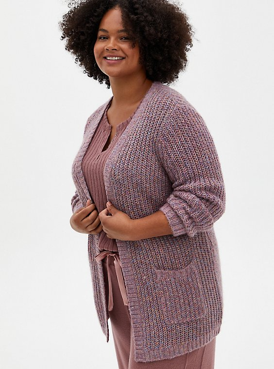 Rainbow Lurex Straight Front Cardigan, OTHER PRINTS, hi-res