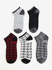 Houndstooth Multicolor Ankle Socks Pack - Pack of 5, MULTI, alternate