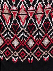 Black Fair Isle Pullover Sweater, OTHER PRINTS, alternate