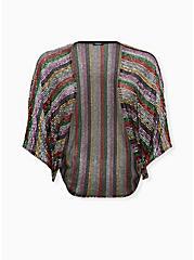 Rainbow Sequin Coccoon Kimono , RAINBOW, hi-res