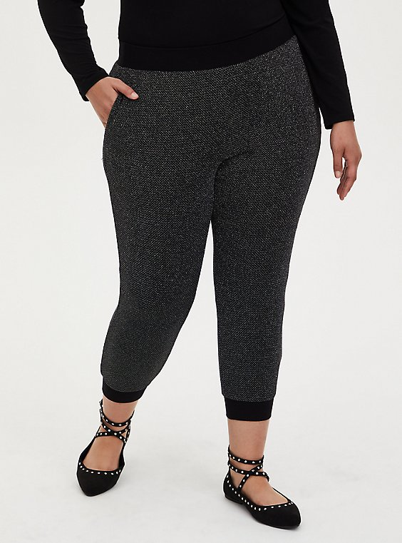 Relaxed Fit Jogger - Shimmer Black , DEEP BLACK, hi-res