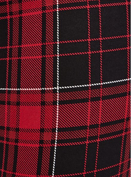 Pixie Pant - Luxe Ponte Red Plaid with Slim Fix Technology, PLAID - RED, alternate