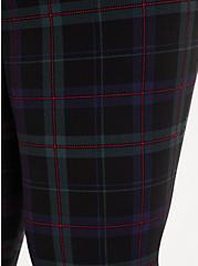 Slim Fix Dark Green & Black Plaid Pull-On Pixie Pant  , PLAID - BLUE, alternate