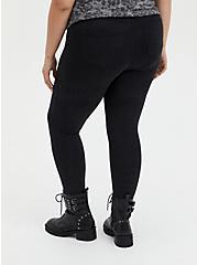Bombshell Skinny Pant - Premium Ponte Shimmer Black , DEEP BLACK, alternate