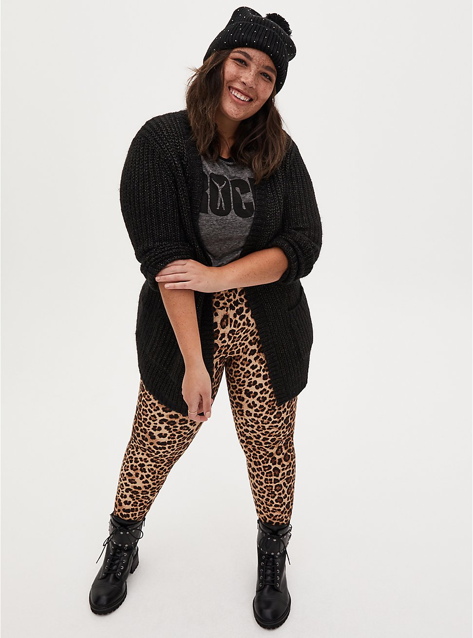 Studio Ponte Slim Fix Leopard Pull-On Pixie Pant , LEOPARD, hi-res