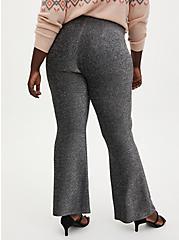 Black Shine Fit & Flare Pant  , DEEP BLACK, alternate